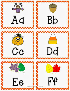 ABC Letter card exit slips