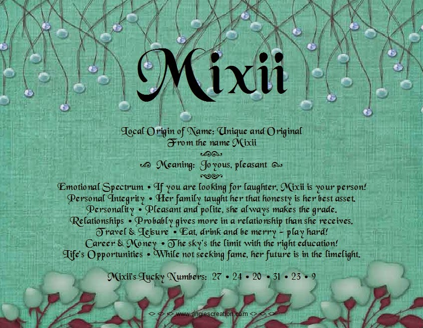 The meaning of the name -  Mixii