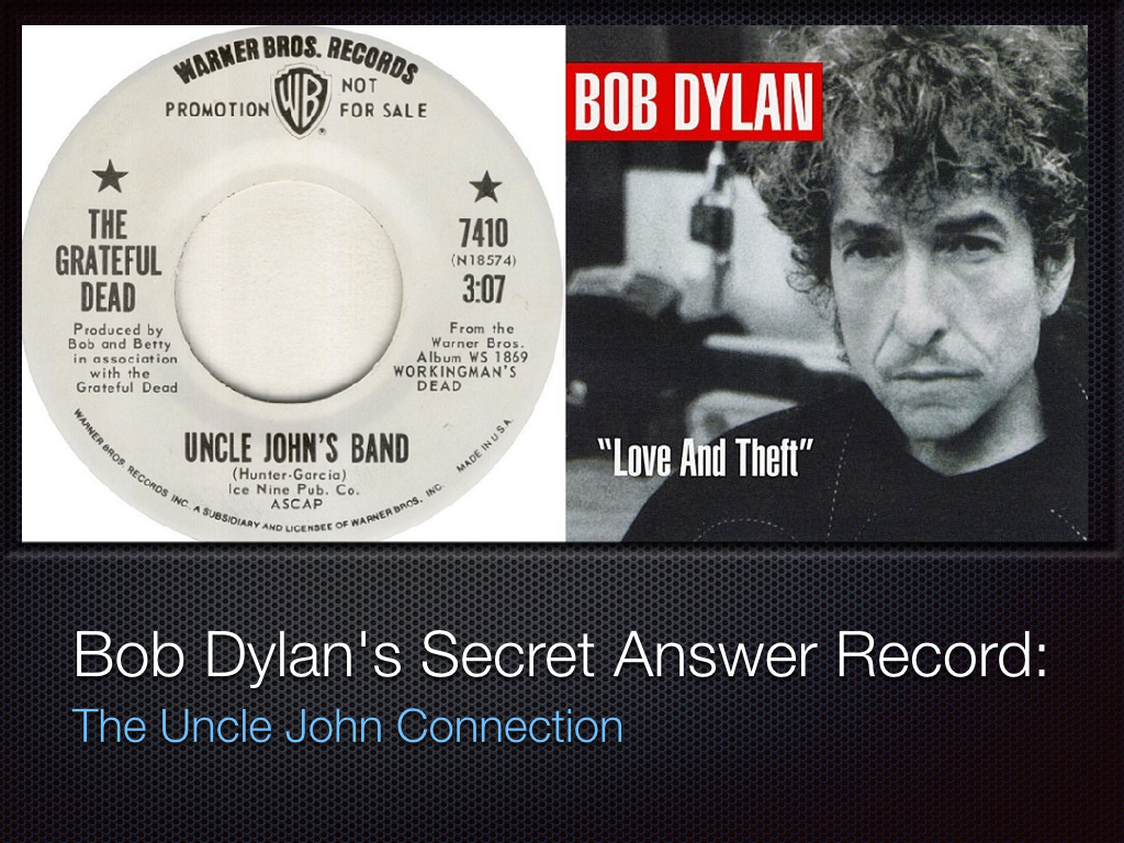 Bob Dylan's Secret Answer Record: The Uncle John Connection