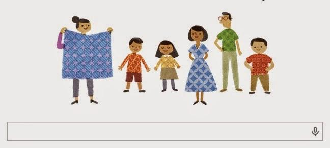 Hari Ini Google Merayakan Hari Batik Nasional - Tampilan Google Doodle Kamis 2 Oktober 2014, Merayakan Hari Batik Nasional