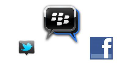 RIM gets twitter and facebook integration