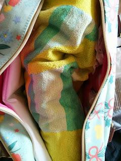 inside swimming bag