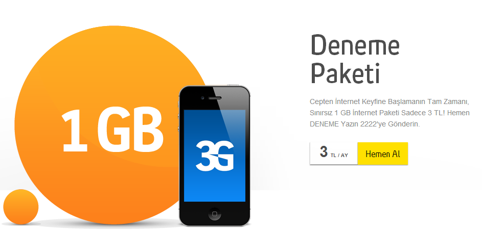 Turkcell'den sudan ucuz internet