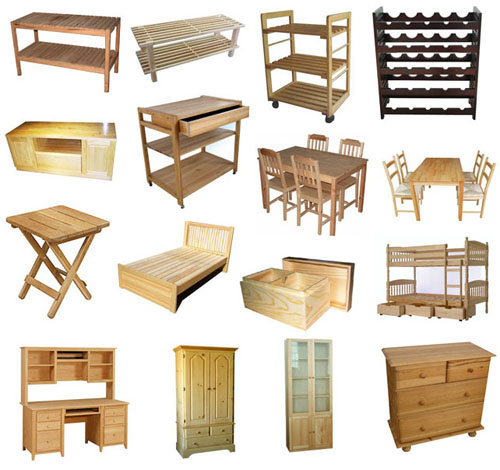 Wood furniture manufacturers types of wood for Wooden furniture