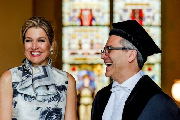 Queen Maxima At The Utrecht University In Utrecht