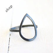 Silver Open Teardrop ring by Silver Lines on Etsy
