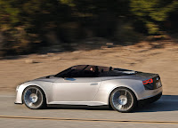 Audi E-tron Spyder in motion HD Wallpaper