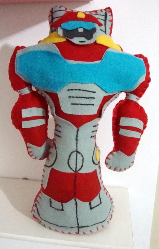 Vestida de Nuvem festa transformers rescue bots, em breve