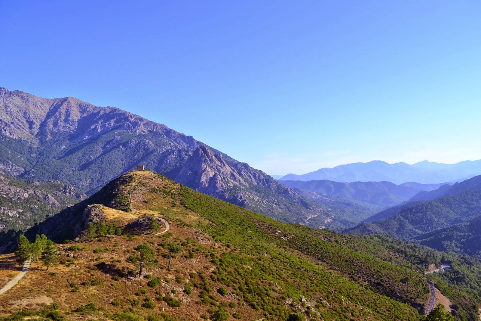 Vue dans la région de Venaco