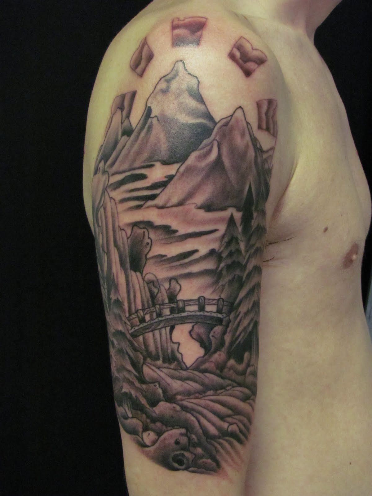 Tattooed Landscape Fresh Tattoo Ideas