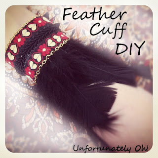 DIY feather cuff