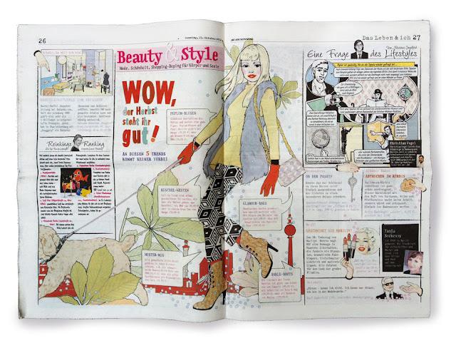 double spread BZ am Sonntag, Comic edition