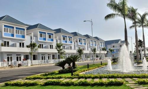 Một dự án nhà phố xây sẵn của Khang Điền tại khu Đông TP HCM. Ảnh: Vũ Lê