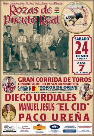 ROZAS DE PUERTO REAL (ESPAÑA) 24-06-2017. CORRIDA DE TOROS.