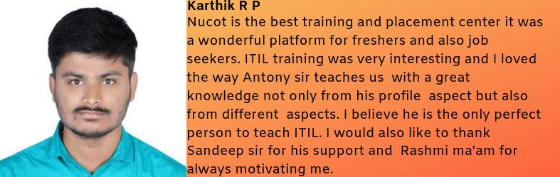 Karthik R P- Testimonial / Review About Nucot