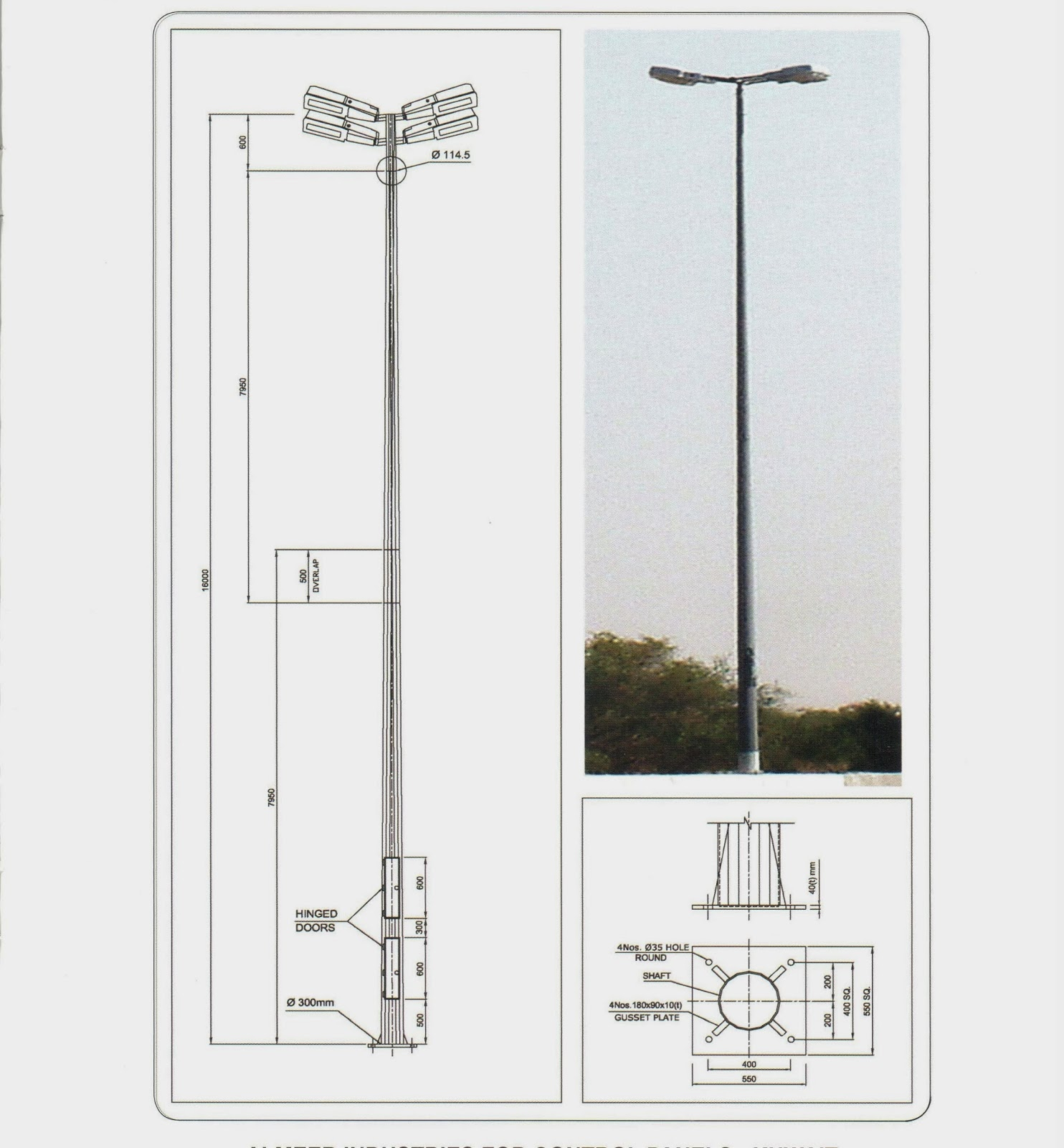 Light Pole Definition: OIL AND GAS ELECTRICAL AND INSTRUMENTATION ENGINEERING: 16