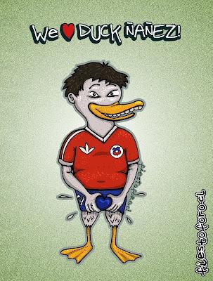 Caricatura de pato yañez