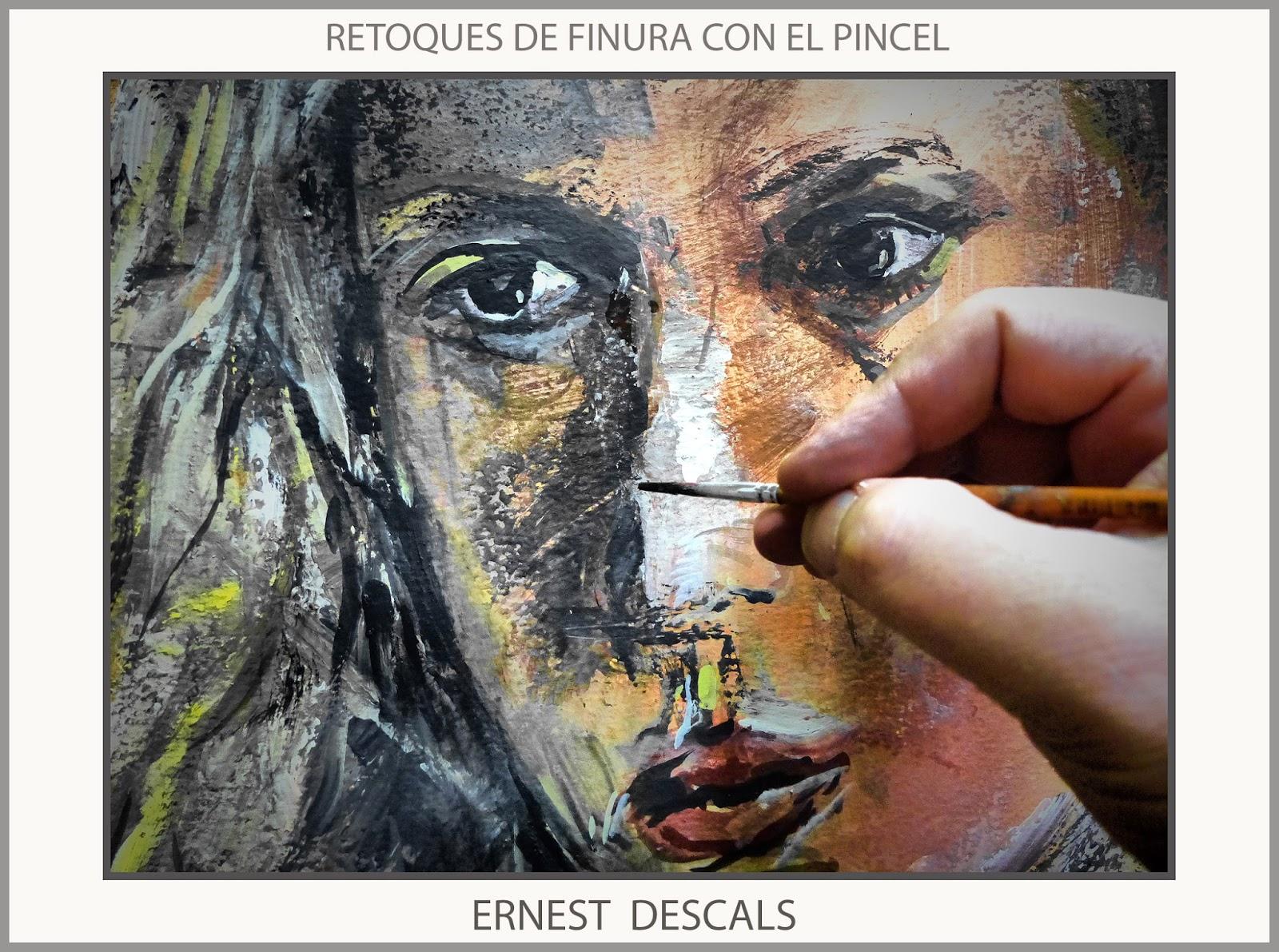 pincel pintando. pintura-mujeres-pinturas-expresividad-mujer-pincel-retoques-pintar- pincel pintando