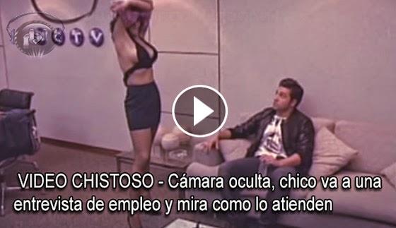 """VIDEO CHISTOSO - """"Cámara oculta"""", chico va a una entrevista de empleo, y observa como lo atienden."""