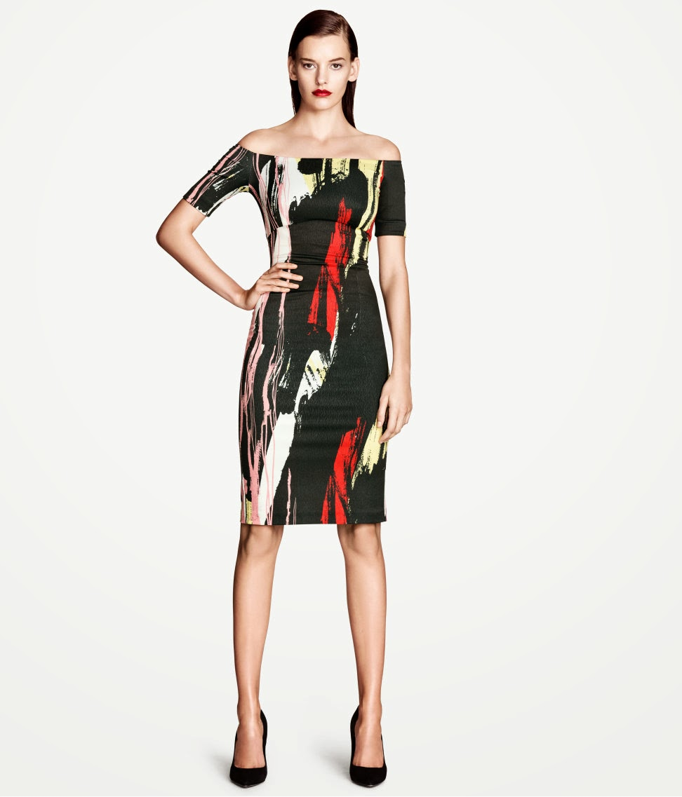 bask%C4%B1l%C4%B1+elbise H & M 2014 Sommer Kleidung Models