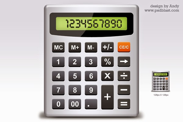 Calculator PSD Icon