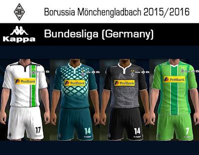 PES 2013 Borussia Mönchengladbach 2015/2016 GDB update 1 by Dark Shimy