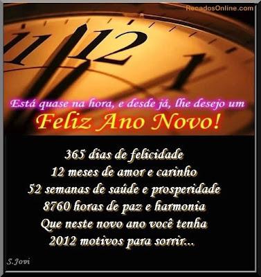 Mensagem de Feliz 2012