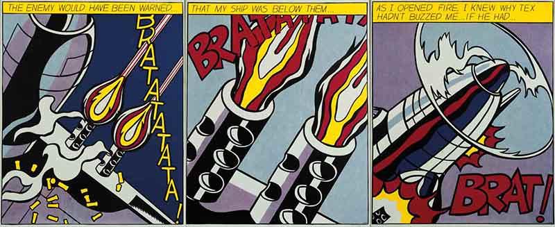 Artimus prime 5th bam onomatopoeia and roy lichtenstein - Roy lichtenstein pop art ...