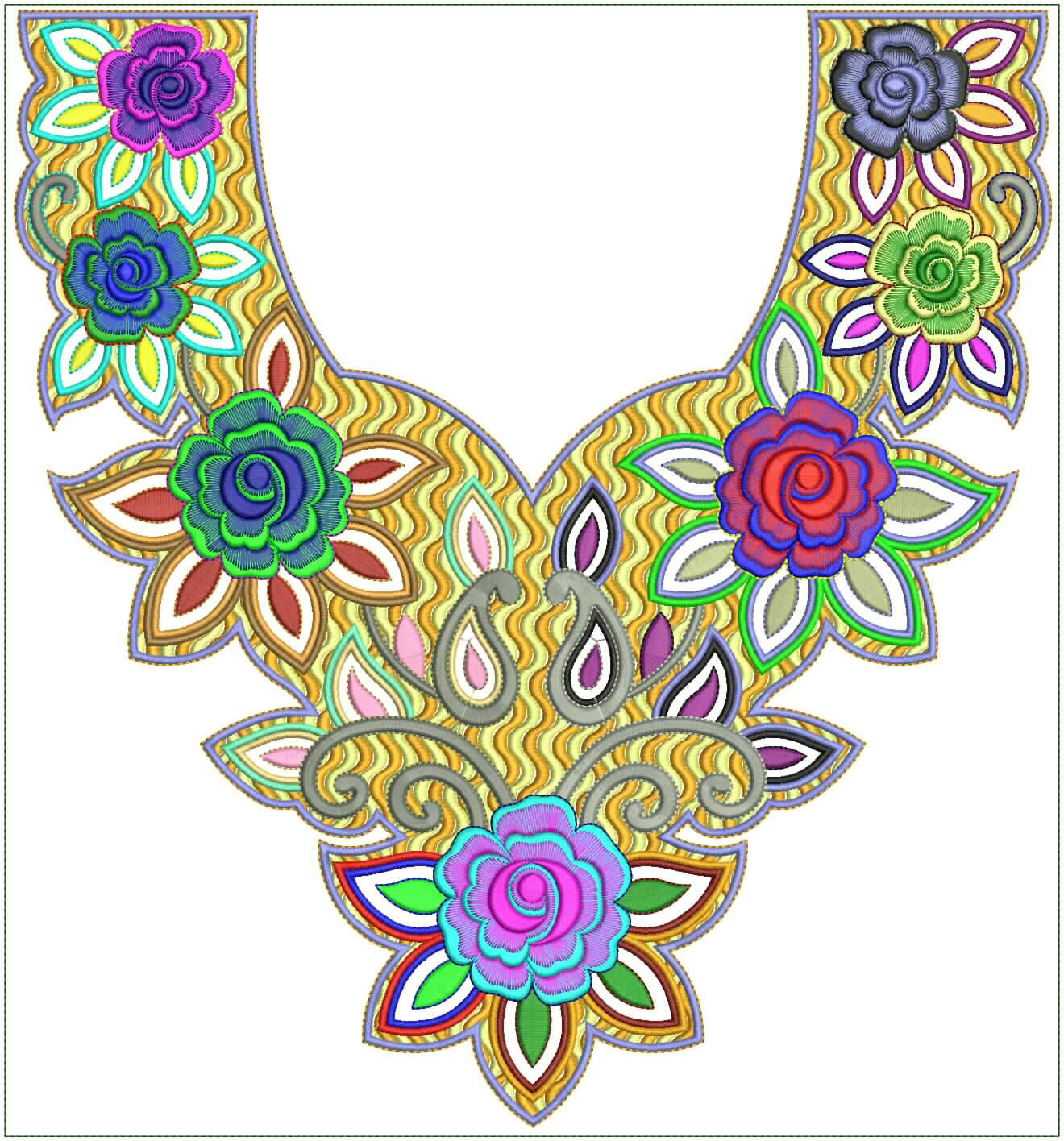 Embroidery Arabian Latest Neck 2012