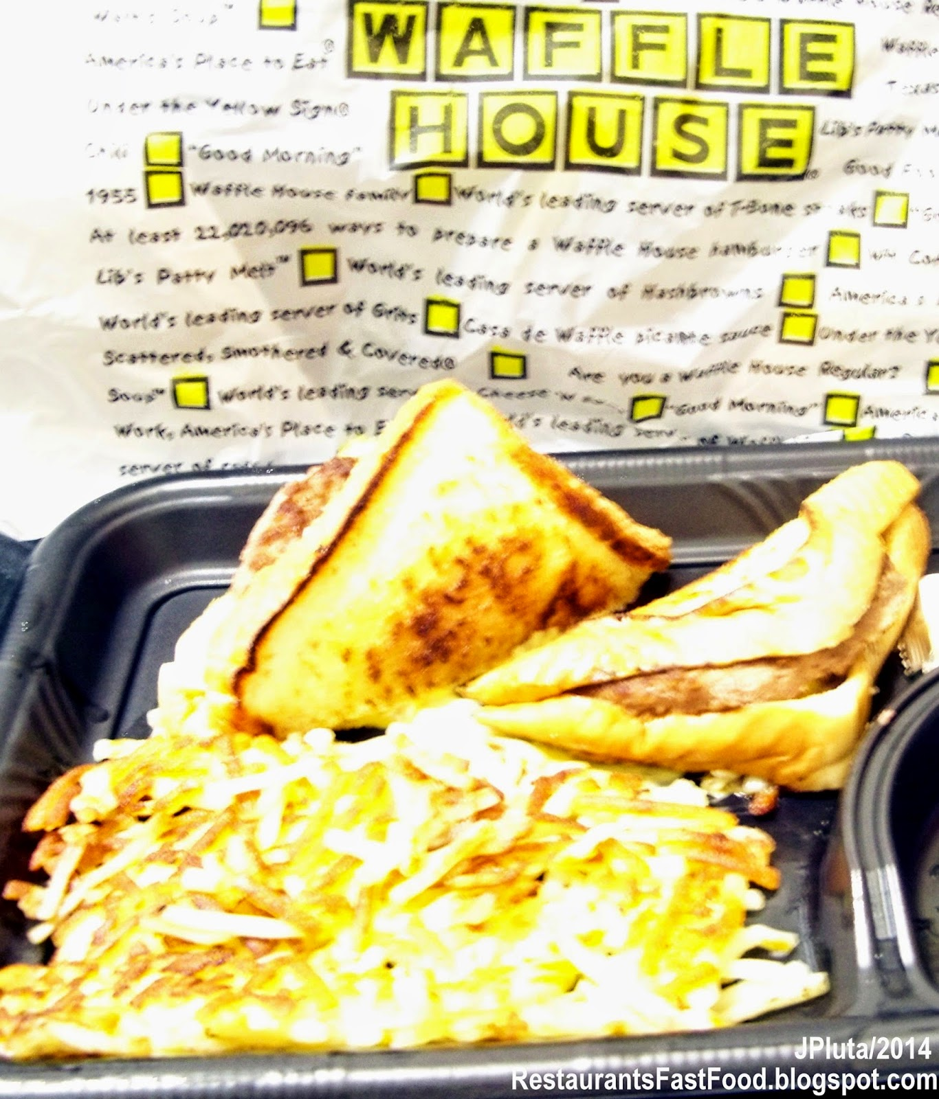 Waffle House Diner Restaurant To Go Hamburger Plate Patty Melt Sandwich WAFFLE HOUSE Forest Park Georgia
