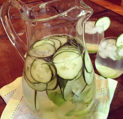 Resep infused water dengan bahan mentimun