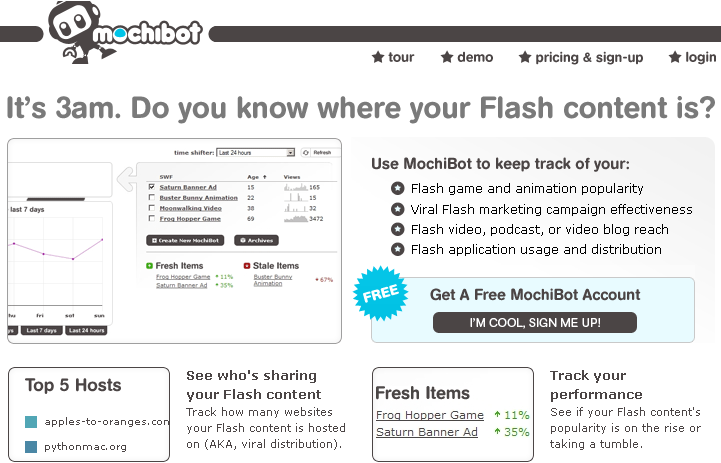 Mochibo Web Analytics tool