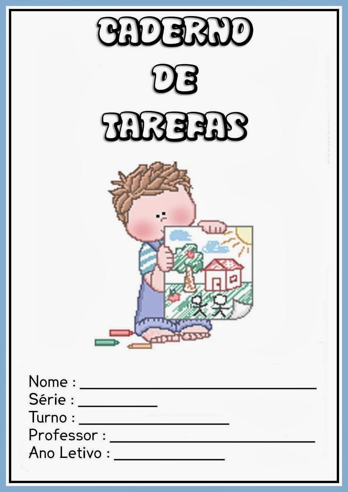 Capinha Infantil para Caderno de Tarefas