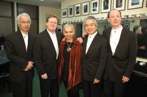 Foto: Hanna Arie-Gaifman und die Mitglieder des Tokio Streichquartetts, mit freundlicher Genehmigung des 92Y