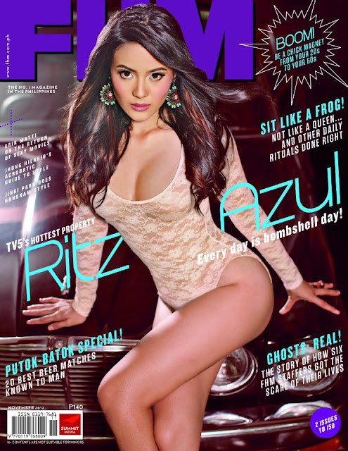 Ritz Azul Covers FHM November 2012, TV-5's Newest Bombshell