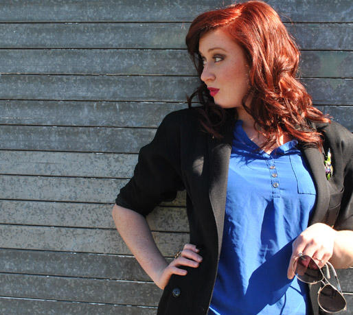red hair, fashion blogger,