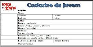 CADASTRO DE JOVEM.