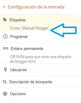 ¿Para que sirve una etiqueta de Blogger?