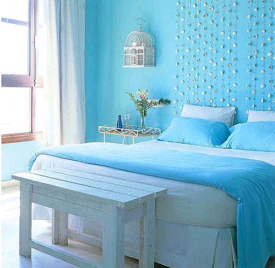 Living Room Design: Blue Bedroom Colors Ideas
