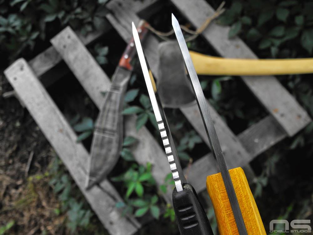 scandi grind, bushcraft knives enzo trapper