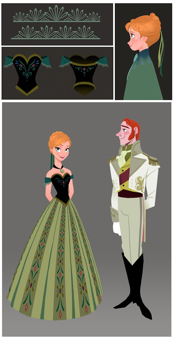 Anna coronation dress hairstyles