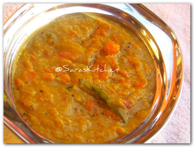 carrot kuttu/curry