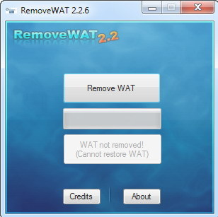 Win 7 Permanent Activator RemoveWAT v2.2.6 Final | 8 Mb
