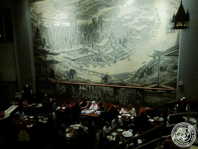 image of dining room at John's pizzeria in Times Square, NYC, New York
