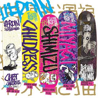 Dbx Skateboards http://thebarrierkult.blogspot.com/2012/07/fall-2012-heroin-skateboards-deer-man.html