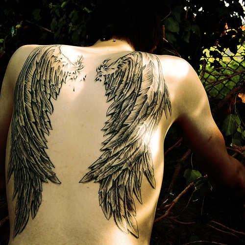 angel wings tattoos pics 2