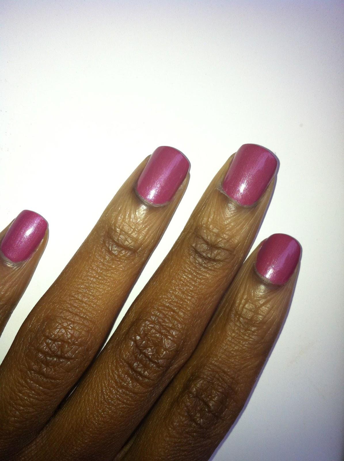 Revlon nail polish iced mauve