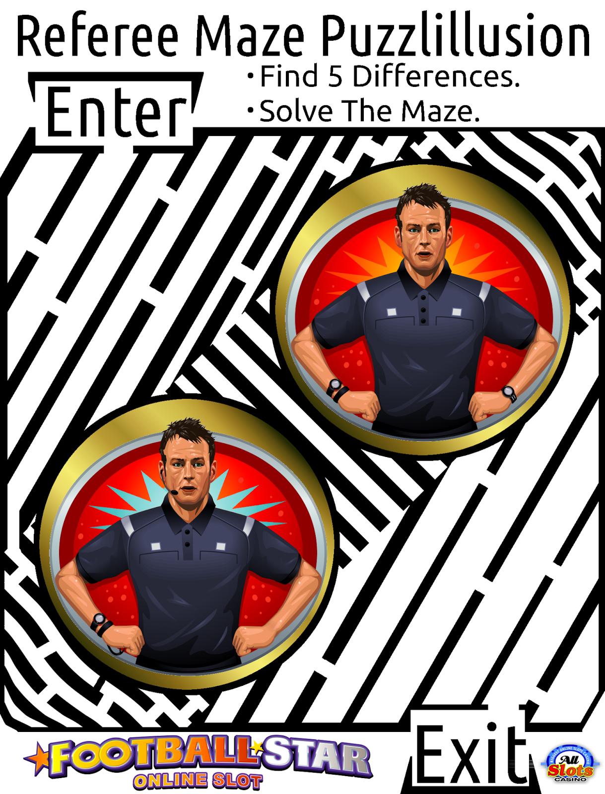 maze puzzlillusion of a referee