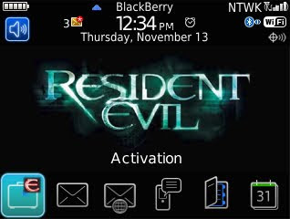 Tema BlackBerry 8520 Resident Evil Download Tema BlackBerry 8520 Gratis 2012