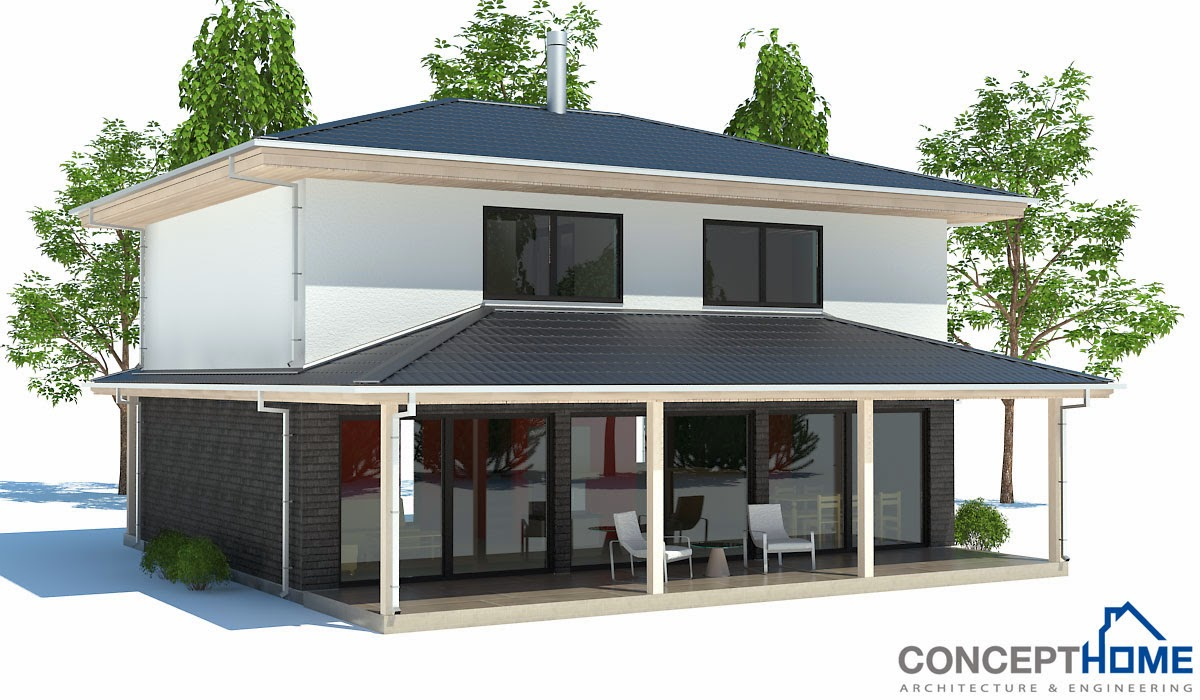 Australian house plans small australian house plan ch187 for Cheap modern house plans